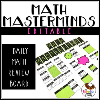 Math Masterminds: Editable Paperless Math Warm-up for the Entire Year