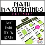 Math Masterminds Calendar and Math Warm Up Bulletin Board