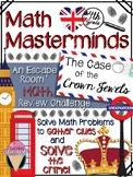 4th GRADE Math Masterminds Escape Room MIDTERM REVIEW - Cr