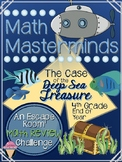 4th GRADE Math Masterminds Escape Room FULL YEAR REVIEW - Deep Sea Treasure