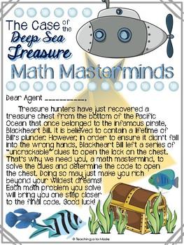 4th GRADE Math Masterminds Escape Room FULL YEAR REVIEW - Deep Sea Treasure