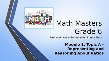 Eureka Math (Engage NY) Introductory PowerPoint - Gr 6, Mod 1, Topic A: Ratios