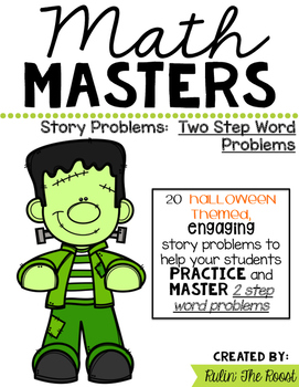 Math Masters:  Halloween 2 Step Story Problems
