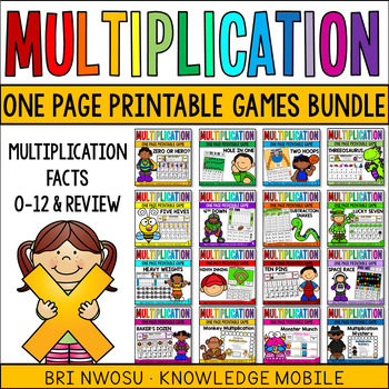 Multiplication Games and Printables