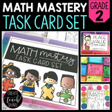 Math Mastery Task Cards - 2nd Grade
