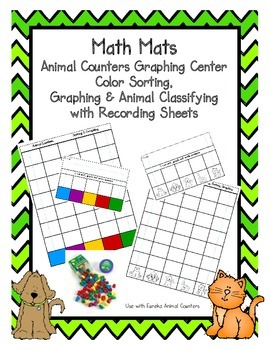 Math Mat Animal/Color Sorting, Counting and Classifying Center