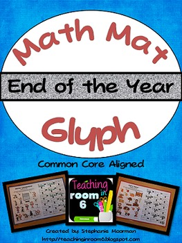 End of the Year Activities Math Glyph