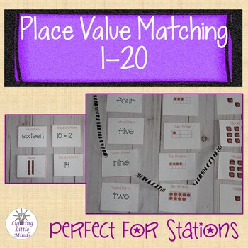 Place Value Matching Game Numbers 1-20 | Identifying Numbers 1-20