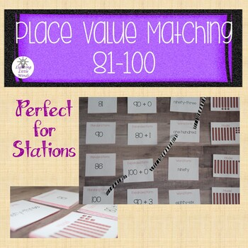 Place Value Matching 81-100