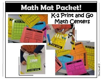 Math Mat Packet for K-2 Math Stations