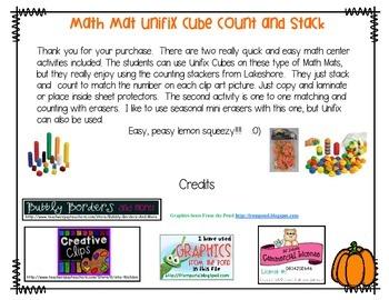 Math Mat Pumpkins Stack and Count