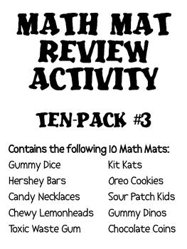Math Mat Review Activity:  ASSORTED TEN PACK #3