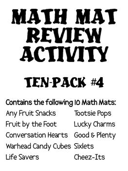 Math Mat Review Activity:  ASSORTED TEN PACK #4