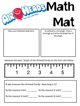 Math Mat Review Activity: Airheads Candy