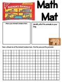 Math Mat Review Activity:  Animal Crackers