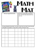 Math Mat Review Activity:  Big Bold Gummy Bears (Trolli)