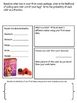 Math Mat Review Activity: Can be Used With ANY Fruit Snacks