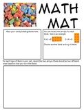 Math Mat Review Activity:  Candy Building Blocks