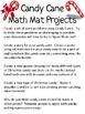 Math Mat Review Activity:  Candy Canes (mini-size)