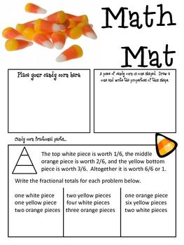 Math Mat Review Activity:  Candy Corn