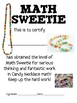 Math Mat Review Activity:  Candy Necklace