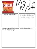 Math Mat Review Activity:  Cheez-Its Crackers