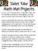 Math Mat Review Activity:  Christmas Sixlet Candy Tubes