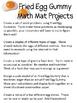 Math Mat Review Activity:  Fried Egg Gummy