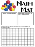 Math Mat Review Activity:  Geometric Solids