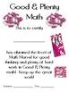 Math Mat Review Activity:  Good & Plenty Candy