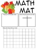 Math Mat Review Activity:  Gummy Bears