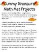 Math Mat Review Activity:  Gummy Dinosaurs