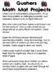 Math Mat Review Activity:  Gushers Fruit Snacks