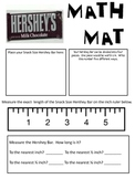 Math Mat Review Activity:  Hershey Bar--Snack Size
