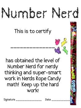 Math Mat Review Activity:  Nerds Rope Candy
