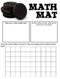 Math Mat Review Activity:  Oreo Cookies