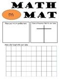 Math Mat Review Activity:  Plain m & m Candy