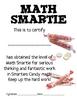 Math Mat Review Activity:  Smarties Candy