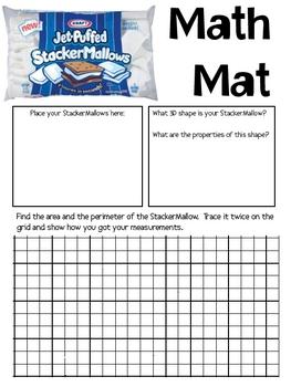 Math Mat Review Activity:  StackerMallows (S'more Marshmallows)