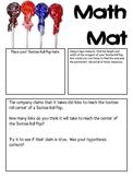 Math Mat Review Activity:  Tootsie Roll Pops