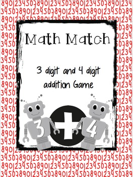 Math Match 3 & 4 Digit Addition