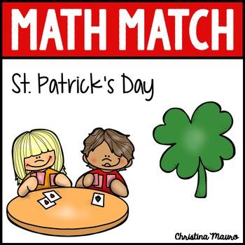 Math Match - St. Patrick's Day