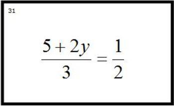 Math Match Game Solve Equations