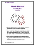 Math Match (I Have, Who Has?) Pre-Algebra