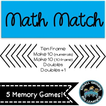 Math Match - Make 10 with Numerals - Memory / Concentratio