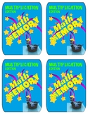 Math Match Memory Cards - Multiplication 2 x 2 Set