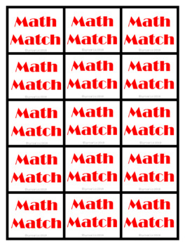 Math Match Multiplication and Division