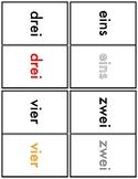 Math Match - Numerals and Text (German)