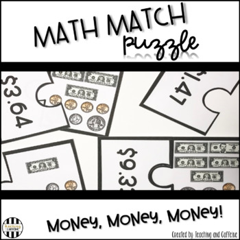Math Match Puzzle {Money, Money, Money!}