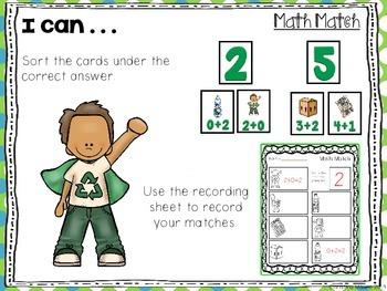 Math Match - Recyclying
